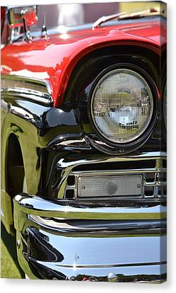 Canvas Print featuring the photograph 50's Ford by Dean Ferreira