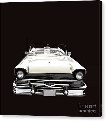 50s Ford Fairlane Convertible Canvas Print by Edward Fielding