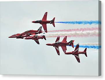50th Anniversary 'red Arrows' Canvas Print by Tim Beach