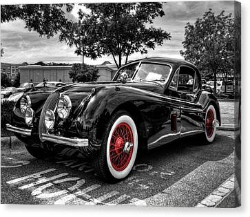 '53 Jag 001 Canvas Print by Lance Vaughn