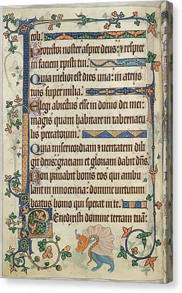 Luttrell Psalter Canvas Print by British Library