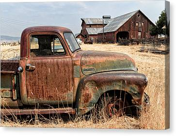 '54 Chevy Put Out To Pasture Canvas Print by Kathleen Bishop