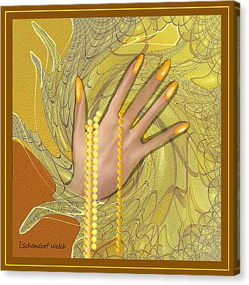 544 -  Gold Fingers   Canvas Print by Irmgard Schoendorf Welch