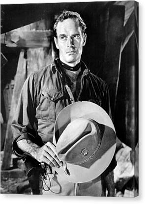 55 Days At Peking, Charlton Heston, 1963 Canvas Print by Everett