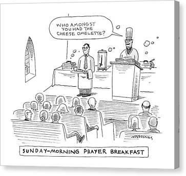 New Yorker November 24th, 2008 Canvas Print