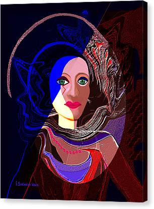 551 - Greeneyed  Witch Canvas Print by Irmgard Schoendorf Welch