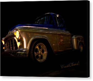 56 Chevy Pickup An Its A Baad One Canvas Print by Chas Sinklier