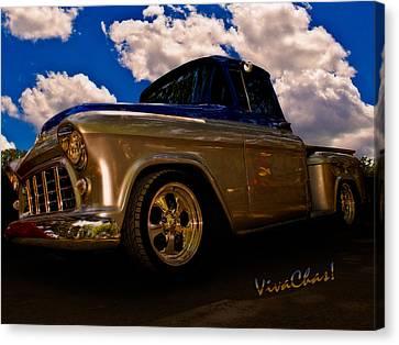 56 Chevy Pickup B4 Sundown Canvas Print by Chas Sinklier