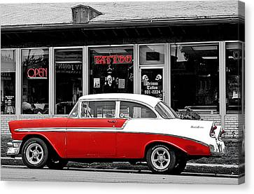 Canvas Print featuring the photograph '56 Tattoo by Christopher McKenzie