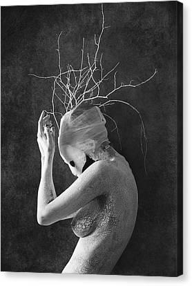 Melancholy Canvas Print - Feminature by Victor Slepushkin