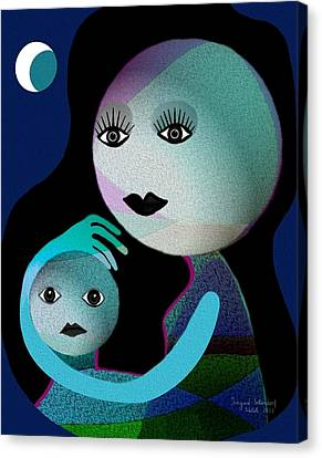 569 - Moonmotherchild Canvas Print