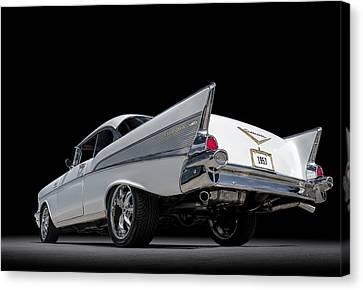 White Chevy Canvas Print - '57 Bel Air by Douglas Pittman