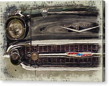 Analog Canvas Print - '57 Chevy Belair  by Jack Zulli