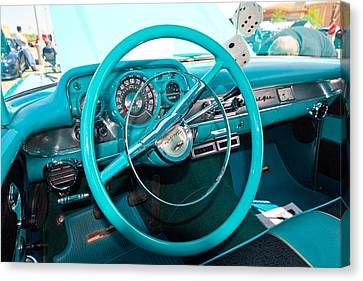 57 Chevy Belair Turquoise Canvas Print