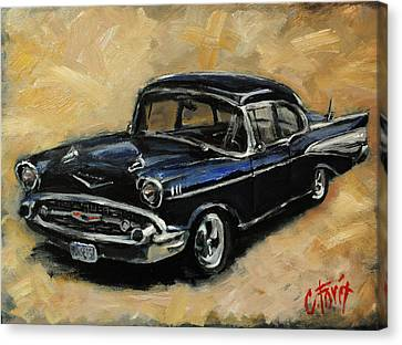 57 Chevy Canvas Print by Carole Foret
