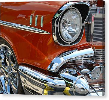 '57 Chevy Closeup Canvas Print