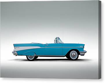 Convertibles Canvas Print - 57 Chevy Convertible by Douglas Pittman