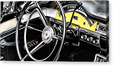 Old Car Canvas Print featuring the photograph '57 Ford Fairlane 500 by Aaron Berg