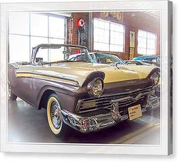 Canvas Print featuring the photograph 57 Ford Fairlane by Steve Benefiel