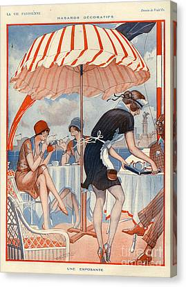 Restaurant Es Canvas Print - 1920s France La Vie Parisienne Magazine by The Advertising Archives