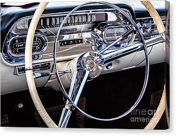 58 Cadillac Dashboard Canvas Print by Jerry Fornarotto