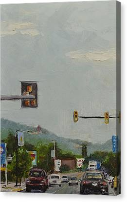 Penn Avenue Canvas Print - 5th And Penn Ave. by Karen Weber