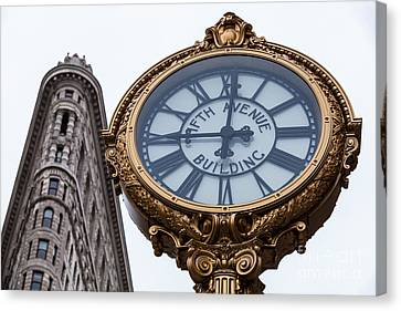 5th Avenue Clock Canvas Print by John Farnan