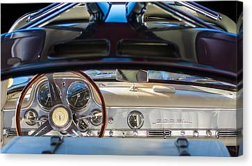 1955 Mercedes-benz Gullwing Dashboard - Steering Wheel Canvas Print