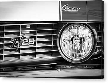 1969 Chevrolet Camaro Z-28 Grille Emblem Canvas Print
