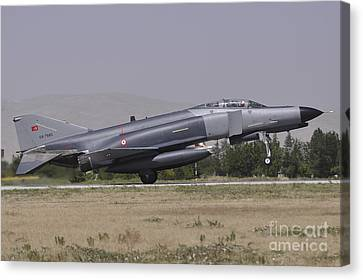 A Turkish Air Force F-4e 2020 Canvas Print by Giorgio Ciarini