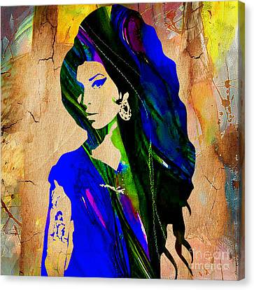 Rhythm And Blues Canvas Print - Amy Winehouse Collection by Marvin Blaine