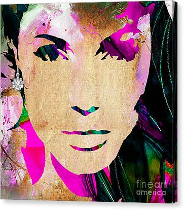 Tomb Canvas Print - Angelina Jolie Diamond Collection by Marvin Blaine