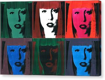 6 Artpop Aka Lady Gaga Canvas Print by David K Parker