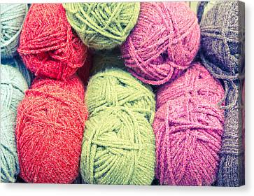 Selection Canvas Print - Balls Of Wool by Tom Gowanlock