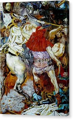 Battle Of Grunwald Canvas Print by Henryk Gorecki