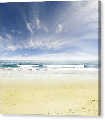 Beach Canvas Print by Les Cunliffe
