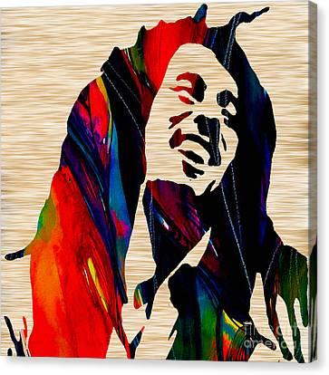 Bob Canvas Print - Bob Marley by Marvin Blaine