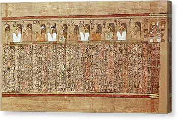Book Of The Dead Or Papyrus Of Any. Ca Canvas Print by Everett