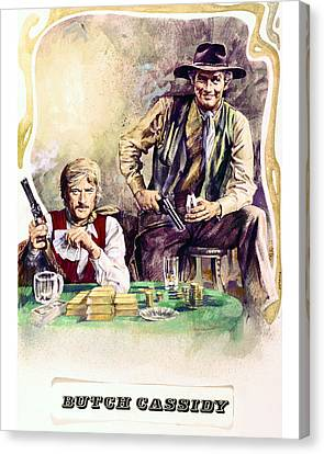 Butch Cassidy And The Sundance Kid  Canvas Print by Silver Screen