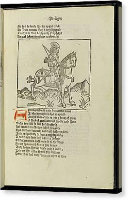 Canterbury Tales Canvas Print