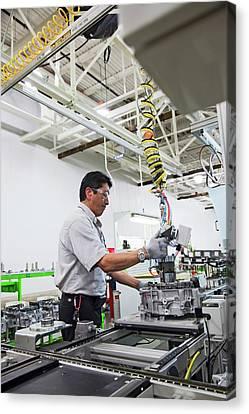 Transmission Canvas Print - Car Transmission Assembly Line by Jim West