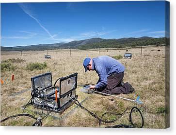 Carbon Dioxide Exchange Experiment Canvas Print