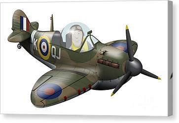 Cartoon Illustration Of A Royal Air Canvas Print by Inkworm