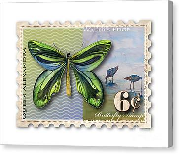 6 Cent Butterfly Stamp Canvas Print by Amy Kirkpatrick