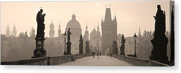 Charles Bridge Prague Czech Republic Canvas Print by Panoramic Images