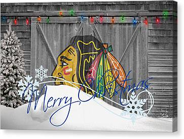 Chicago Blackhawks Canvas Print by Joe Hamilton