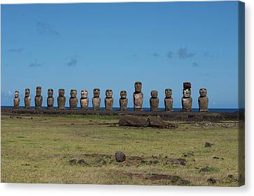 Chile, Easter Island, Hanga Nui Canvas Print by Cindy Miller Hopkins