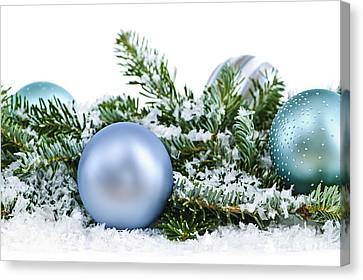 Christmas Ornaments Canvas Print by Elena Elisseeva