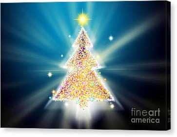 Christmas Tree Canvas Print by Atiketta Sangasaeng