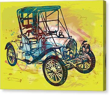 Bike Canvas Print - Classical Car Stylized Pop Art Poster by Kim Wang